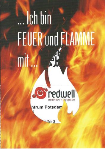 Druck Karte mit Auschnitt einer Flamme